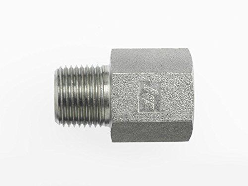 Brennan Industries 5405-02-04 Steel Straight Expander Fitting 1//8-27 NPTF x 1//4-18 NPTF Thread
