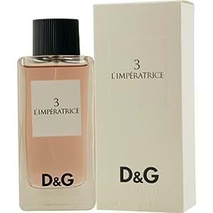 D & G 3 L'Imperatrice By Dolce & Gabbana For Women. Eau De Toilette Spray 3.3 Oz / 100 Ml