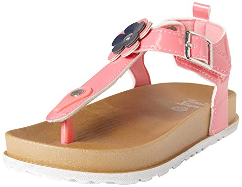 - first steps Toddler Girls Moulded Flower Sandals with Belt Buckle Closure, Coral Patent, Size 8 M US Toddler'