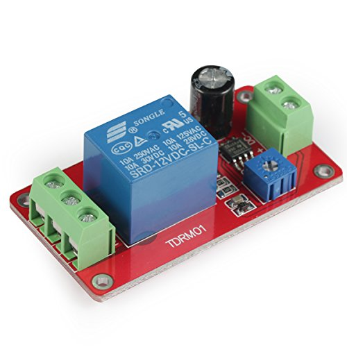 GEREE DC 12V Delay Relay Module Switch NE555 Timer 0-20s - Delay Circuit