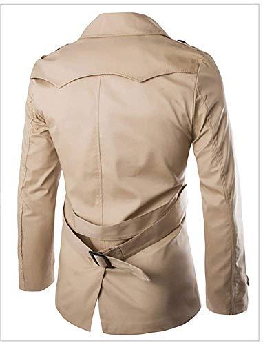 Giacche Giacche Giacche Khaki Petto Uomo Manica Manica Manica Da Coat Giacche Manica Trench Cappotto Fit Slim Lunga Lunga Classiche Uomo Doppio Da Zn6x6qStT