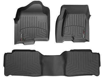 2015-2016 Ford Edge-Weathertech Floor Liners-Full Set (Includes 1st and 2nd Row) Black