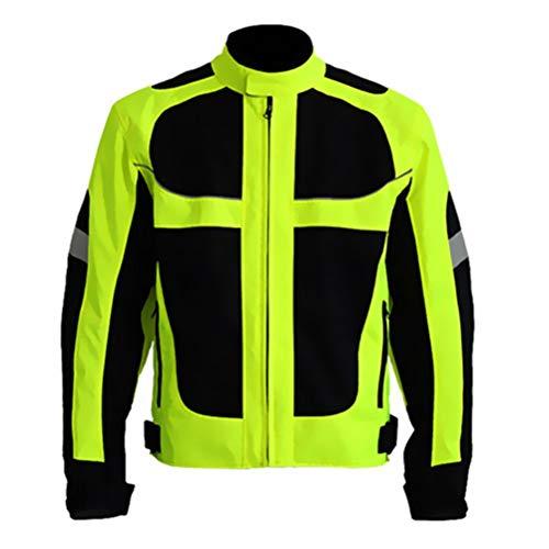 (LLC-CLAYMORE Motorcycle Men Jacket Full Season Warm Liner Motorcross Protective Gear Clothing Off-Road Moto Racing Coat,L)