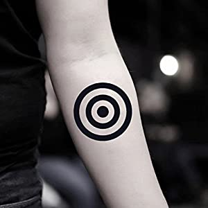 Target Temporary Fake Tattoo Sticker (Set of 2) - TOODTATTOO.COM