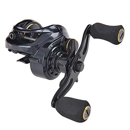 (Fiblink Baitcasting Fishing Reel 7.3:1 High Speed Right/Left Hand Casting Reel Ultra Smooth Baitcaster for Freshwater and Saltwater with Reel Bag (Left Handed))
