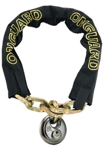 Black, 80 cm x 8 mm ONGUARD Mastiff Chain Lock with Round Key Padlock 45008022D