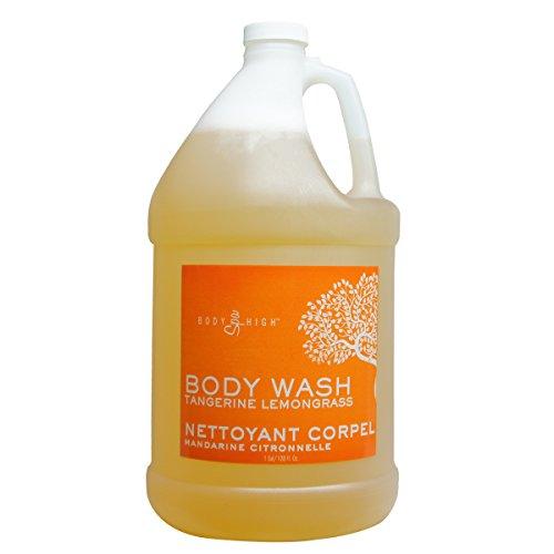 Lemongrass Scented Body Wash (Tangerine Lemongrass Body Wash Spa Massage Salon Scented- Gallon Bottles (1 Gallon))