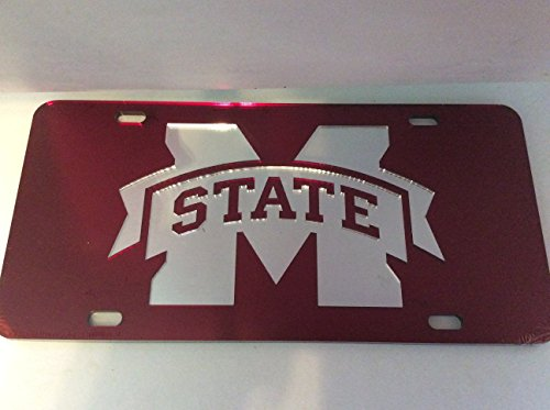 (Mississippi State Bulldog License Plate, Laser Cut Inlaid Auto Car Tag)