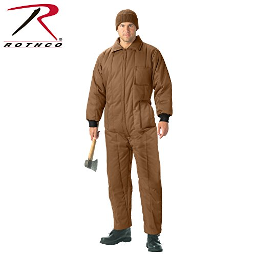 Insulated Hunting Coverall - Rothco Insulated Coveralls, Coyote Brown, Large