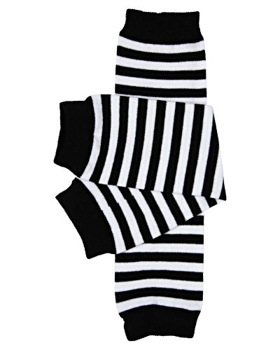 juDanzy Black and White Stripe Baby and Toddler Boy and Girl Leg Warmers ()