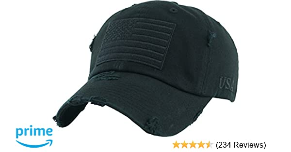 KBVT-209 BLK Tactical Operator with USA Flag Patch US Army Military  Baseball Cap Adjustable at Amazon Men s Clothing store  e88db1373c7