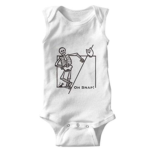 Price comparison product image Oh Snap Halloween Owl Funny Skeleton Baby Onesies Sleeveless Organic Outfits Novelty for Boys Girls