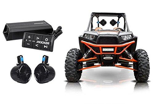 (KICKER 42PXIBT1002 200w 2-Ch Bluetooth Amplifier+Controller+Speakers RZR/ATV/UTV)