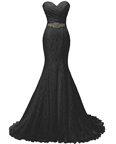 JINGDRESS Ladies Sweetheart Lace Mermaid Evening Dress Sleeveless Celebrity Gown (Celebrity Halloween Party 2017)