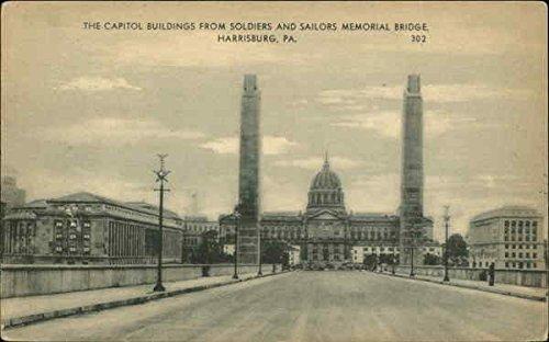 The Capitol Buildings from Soldiers and Sailors Memorial Bridge Original Vintage ()