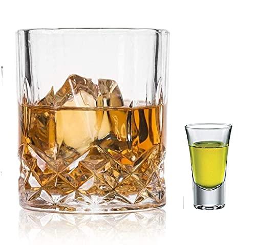 PRAX highball Designer Whisky Tumbler Set of 6  shot glass 30 ml