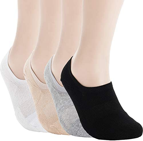 Pro Mountain No Show Socks For Women Cushion Cotton Footies Sports Liner Workout