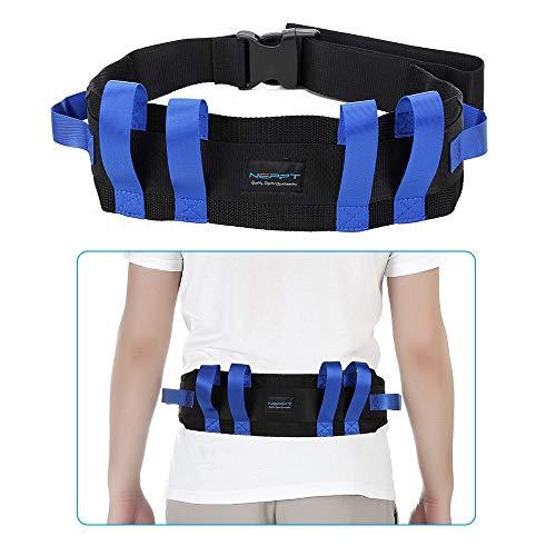 Gait Belt Patient Lift Transfer Board Slide Belt Medical Lifting Transport Belts Gate Grip Belt for Seniors Physical Ttherapy Safety Elderly bariatric Walking Nursing Assist Straps with Handles (Blue) ()