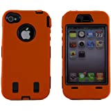 Body Armor for iPhone 4 / 4th Generation - Orange & Black