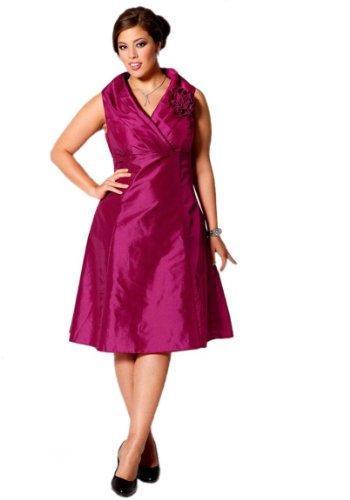 M.I.M. Damen-Kleid Changeant-Abendkleid Pink Größe 48