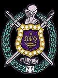 omega psi phi fraternity patches - Omega Psi Phi Fraternity Shield Cotton 3'' Emblem Patch