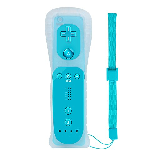 Lavuky Remote Controller for Wii/Wii U, WR03 Replacement for Wii Remote with Silicone Case and Wrist Strap -Light Blue(3rd-Party ()