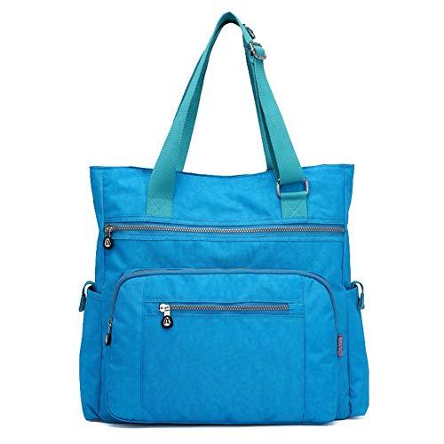 TSDBG203366 Black Shoulder Zippers Bags AalarDom Nylon Skyblue Bags Women's Casual 78S7wq06