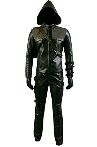 Men's Halloween Green Costume Arrow Oliver Queen