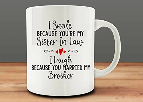 Cbuyncu Christmas Funny Sister-in-Law Quote Ceramic Milk Coffee Cup...
