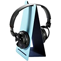 WinPeak Universal Headphone Stand Hanger Holder Mount for Sony, Bose, Shure, Jabra, JBL, AKG, Gaming Headset and Earphone Display, Folded Design, Double Sided Colors (Blue/Navy blue)