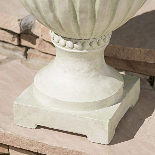 Great Deal Furniture Alice Outdoor White Moss Finish Light Weight Concrete Urn by Great Deal Furniture (Image #2)
