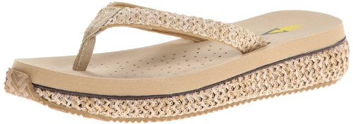 Volatile Women's Palau Wedge Sandal,Natural,9 B US (Womens Raffia)