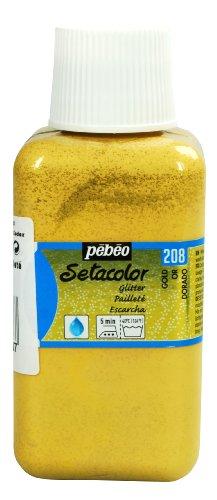 PEBEO Light Fabrics Glitter Setacolor Fabric Paint, 250ml, Gold