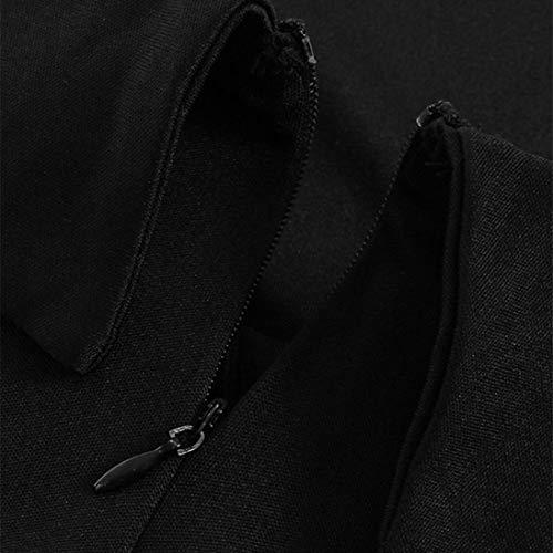 Casual 2018 Verano Fiesta Mangas Maxi de Vestidos Largas Zolimx Vestidos Playa Mujer Elegante Corta Fiesta Negro para Vestir Faldas de TSwqUT