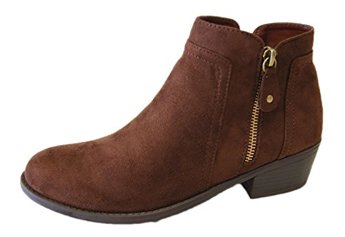 Refresh Womens Tildon-06 Suede Low Heel Ankle Bootie (6.5 B(M) US, Brown)