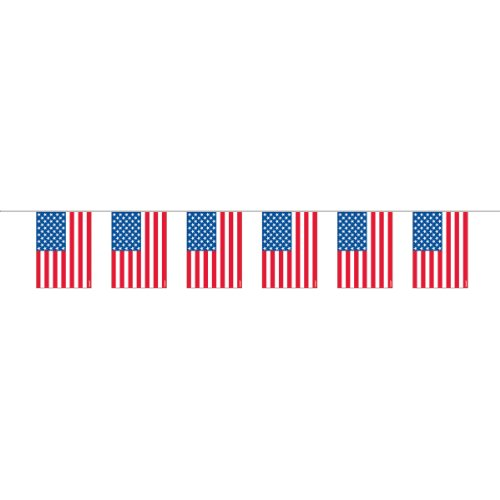 Plastic Party Flag Garland