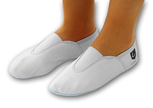 225gp Chaussures Ballet gummipads 28 Danse turnschläppchen avec chaussure gr Blanc 44 r1dUwqOr