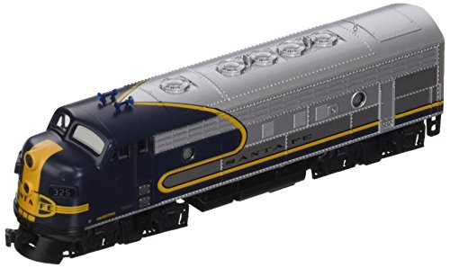 Kato USA Model Train Products #325 N Scale EMD F7A Freight AT & SF Train, Blue