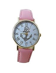 changeshopping(TM) Women's Roman Numerals Anchor Analog Watch (pink)