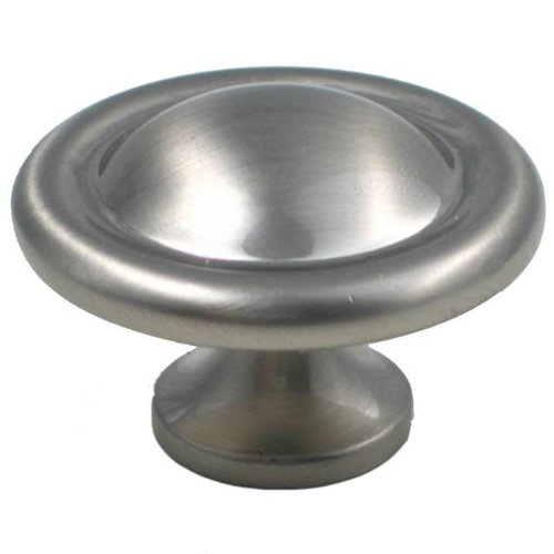 """Rusticware 915SN 1-1/2"""" Flat Mushroom Knob from the Cabinet Hardware Collection, Satin Nickel"""