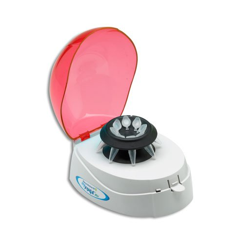 Benchmark Scientific C1008-R MyFuge Mini Centrifuge with Red Lid and 2 Rotors, 100-240V (US Plug), Plastic