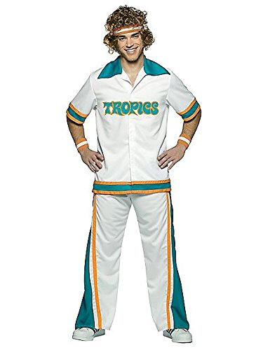 Semi Tropics Costume Pro Flint (Rasta Imposta Jackie Moon Official Flint Tropics Warm Up Suit, Multi, One)
