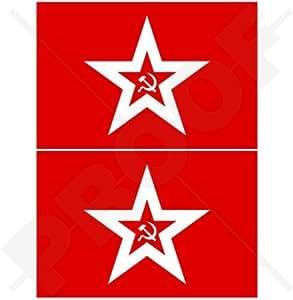 "Naval de la Unión Soviética bandera de URSS Azul Marino de Rusia, Rusia 3""(75mm) vinilo Parachoques Pegatinas, calcomanías x2"