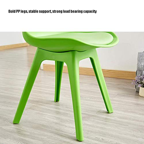 Matstol delikat stol enkel student skrivbord och stol makeup dator pall hemma stabil (färg: Röd)