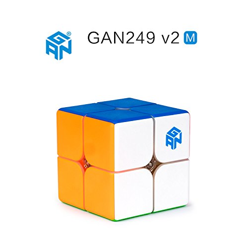 CuberSpeed Gan 249 V2 M 2x2 stickerless Speed Cube Gan249 V2 Magnetic 2x2 Cube