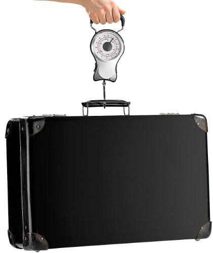 PEARL Analoge 2in1-Kofferwaage bis 30 kg mit ausziehbarem Maßband