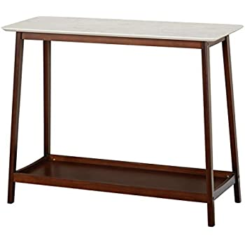 8384412c4f TMS 33803MWA JHOVIES Faux Marble Mid Century Living Room Tall Entryway  Console Table, 39.3