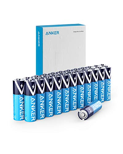 (Anker Alkaline AA Batteries, Long-Lasting Leak-Proof 24 Count Double A Batteries (24-Pack))