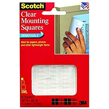 Amazon Com Scotch R Mounting Squares For Fabric Walls