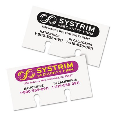 o Avery Consumer Products o - Laser/Inkjet Rotary Cards, 2-1/8''x4'', 400/BX, White by Avery (Image #2)